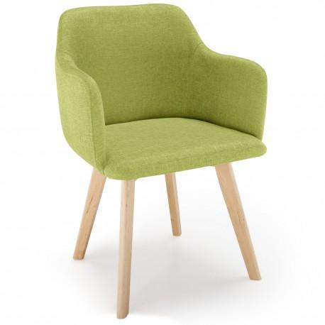 Chaise scandinave Design Tissu Vert Pistache