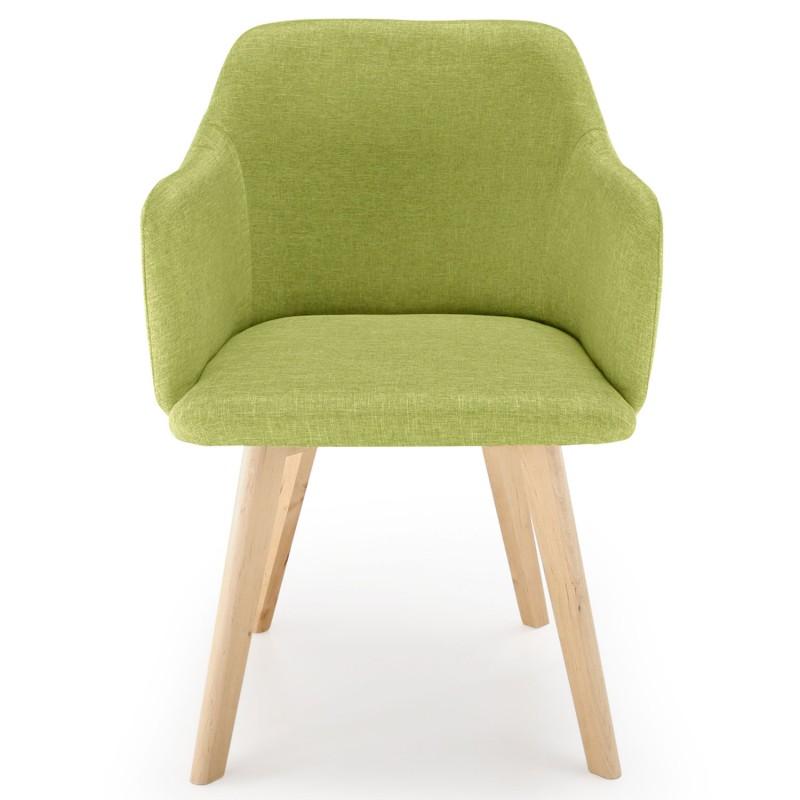 chaise scandinave design tissu vert pistache pas cher. Black Bedroom Furniture Sets. Home Design Ideas