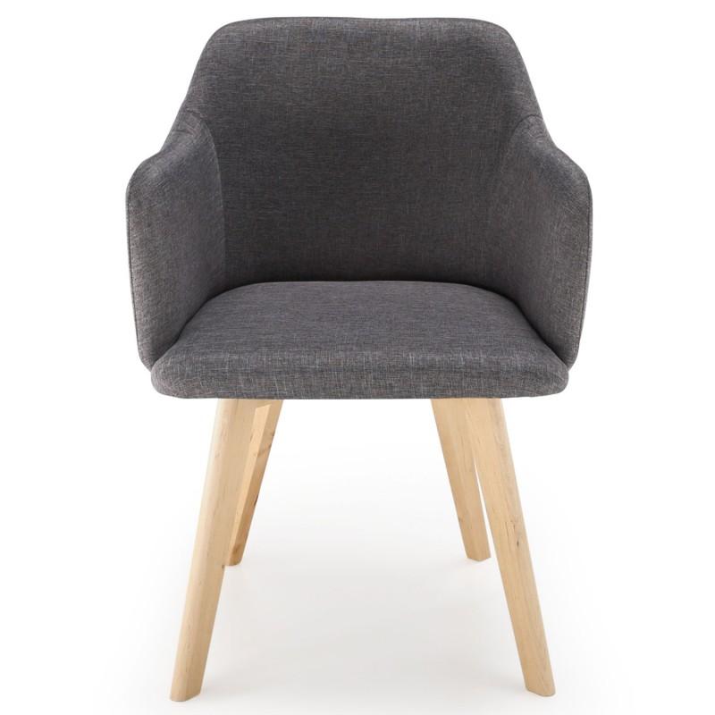 chaise scandinave design tissu gris fonc pas cher. Black Bedroom Furniture Sets. Home Design Ideas