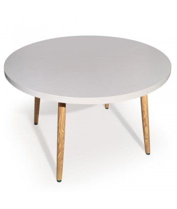 Table ronde scandinave Jones Blanc