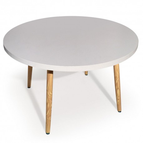 Table ronde scandinave Jones Blanc pas cher