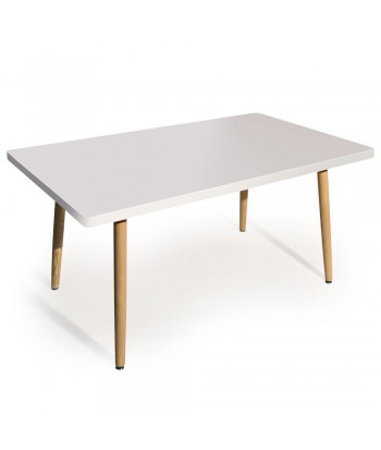 Table rectangulaire scandinave Jones Blanc pas cher