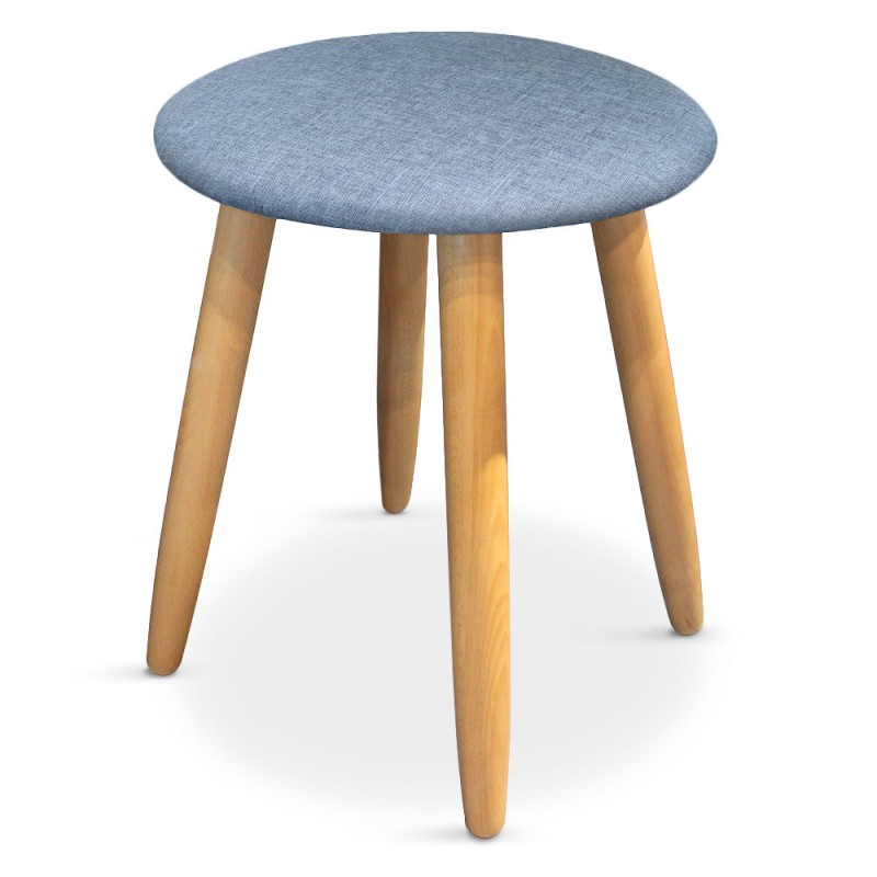 lot de 2 tabourets style scandinave barry bleu pas cher scandinave deco. Black Bedroom Furniture Sets. Home Design Ideas