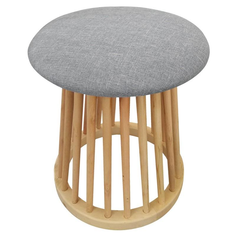 tabouret style scandinave nordik gris pas cher scandinave deco. Black Bedroom Furniture Sets. Home Design Ideas