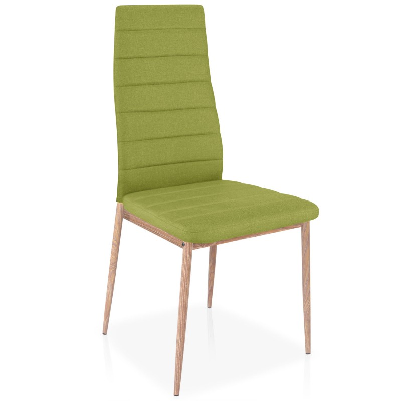 chaises scandinave elsa tissu vert lot de 4 pas cher. Black Bedroom Furniture Sets. Home Design Ideas