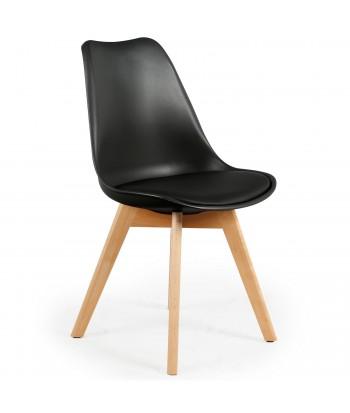Lot de 2 chaises design scandinave Ericka Noir pas cher