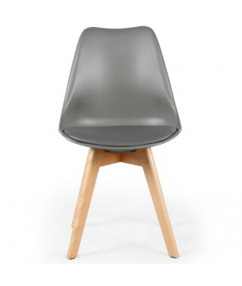 Lot de 2 chaises design scandinave Ericka Gris pas cher