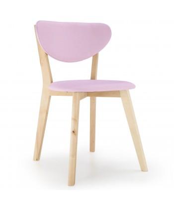 Lot de 2 chaises Design Scandinave Canada Rose pas cher
