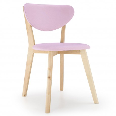 Lot de 2 chaises Design Scandinave Canada Rose pas cher