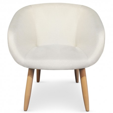 Fauteuil Chaise Design scandinave Barry Beige