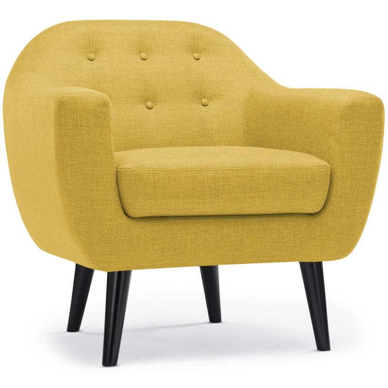 fauteuil scandinave mar o tissu jaune pas cher scandinave deco. Black Bedroom Furniture Sets. Home Design Ideas
