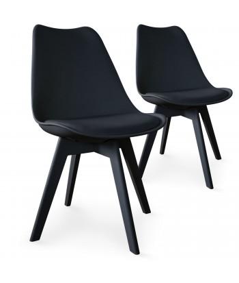 Chaises Scandinave Colors Noir - Lot de 2 pas cher