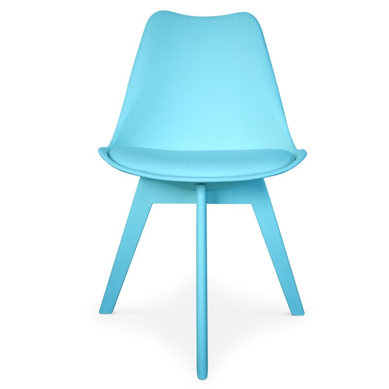 Chaises scandinave colors bleu lot de 2 pas cher for Chaise scandinave bleu