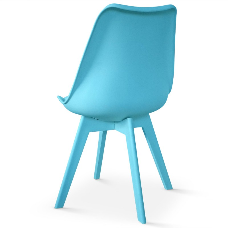 Chaises Scandinave Colors Bleu Lot De 2 Pas Cher Scandinave Deco
