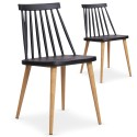 Chaises scandinaves Gunda Noir - Lot de 2