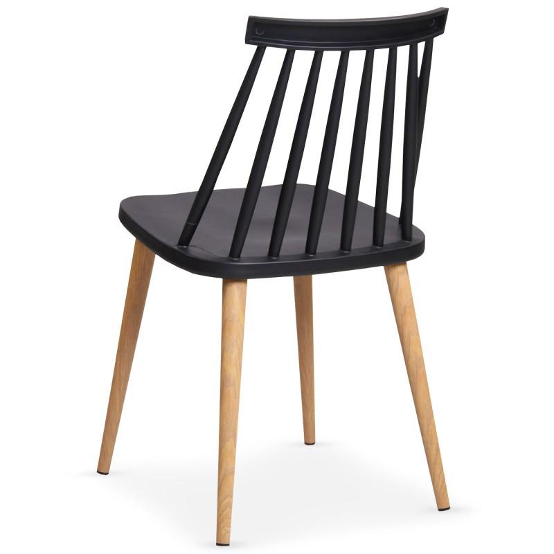 chaises scandinaves gunda noir lot de 2 pas cher scandinave deco. Black Bedroom Furniture Sets. Home Design Ideas