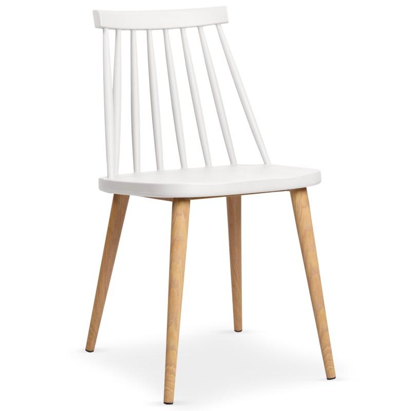 Chaises scandinaves gunda blanc lot de 2 pas cher for Silla maison du monde