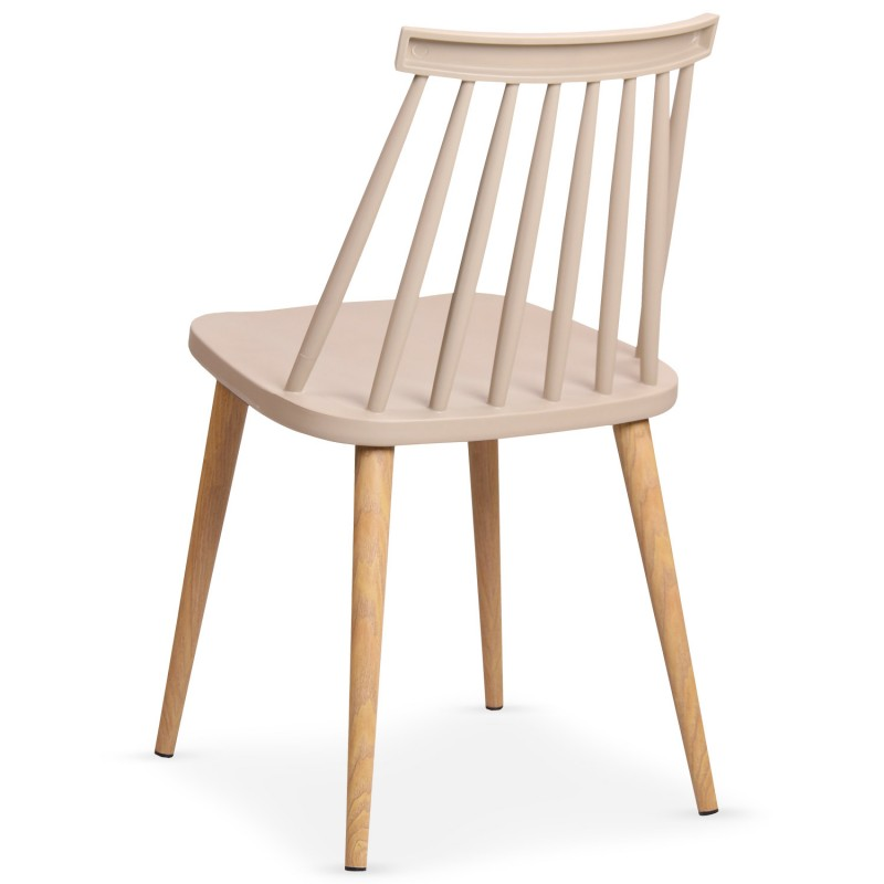 chaises scandinaves gunda beige lot de 2 pas cher. Black Bedroom Furniture Sets. Home Design Ideas