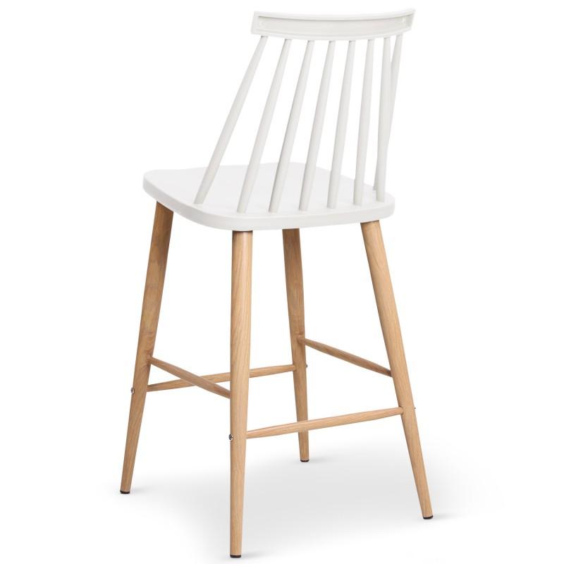 chaises de bar scandinaves gunda blanc lot de 2 pas cher. Black Bedroom Furniture Sets. Home Design Ideas