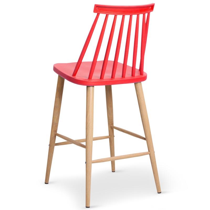 chaises de bar scandinaves gunda rouge lot de 2 pas cher scandinave deco. Black Bedroom Furniture Sets. Home Design Ideas