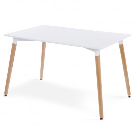 Table scandinave Blanc Design pas cher