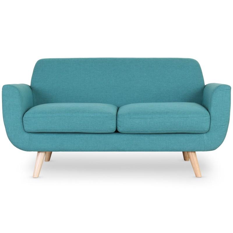 canap scandinave 2 places karina tissu bleu pas cher. Black Bedroom Furniture Sets. Home Design Ideas