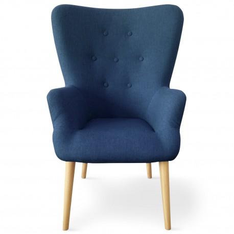 Fauteuil scandinave Axell Tissu Bleu