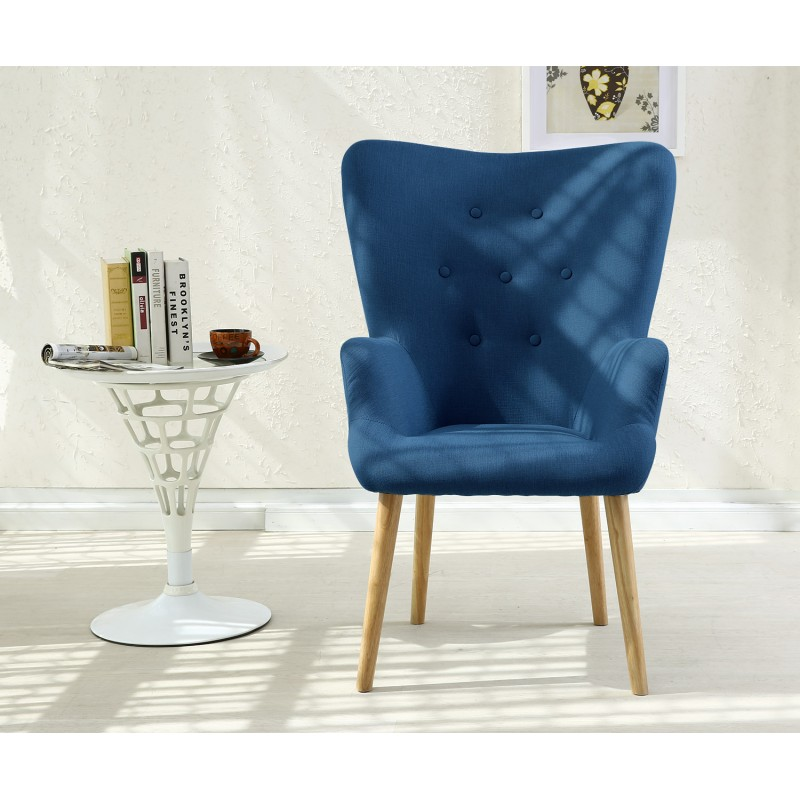 fauteuil scandinave axell tissu bleu pas cher scandinave deco. Black Bedroom Furniture Sets. Home Design Ideas