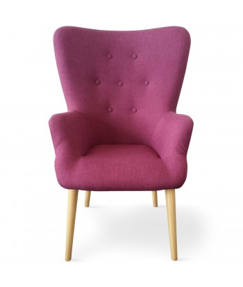 Fauteuil scandinave Axell Tissu Violet pas cher