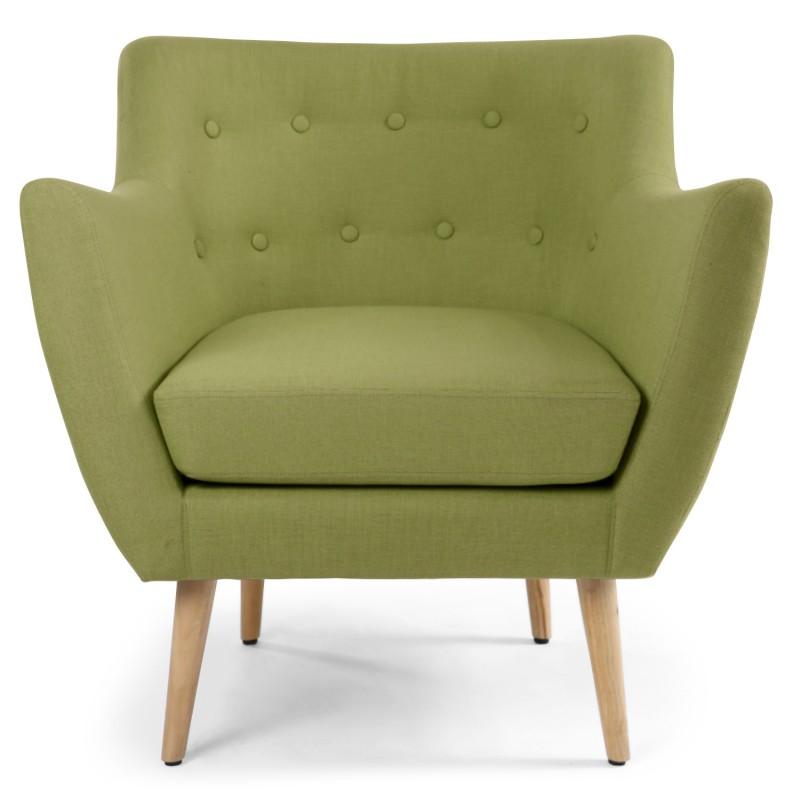 fauteuil scandinave stuart tissu vert pas cher scandinave deco. Black Bedroom Furniture Sets. Home Design Ideas