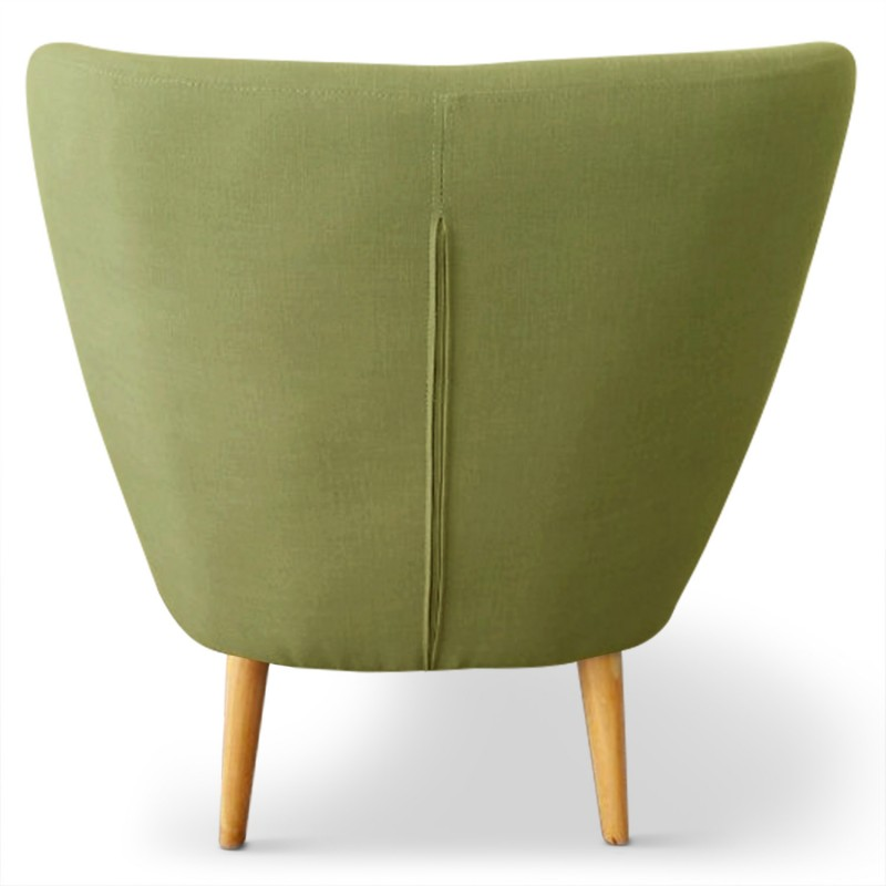 fauteuil scandinave stuart tissu vert pas cher scandinave deco. Black Bedroom Furniture Sets. Home Design Ideas