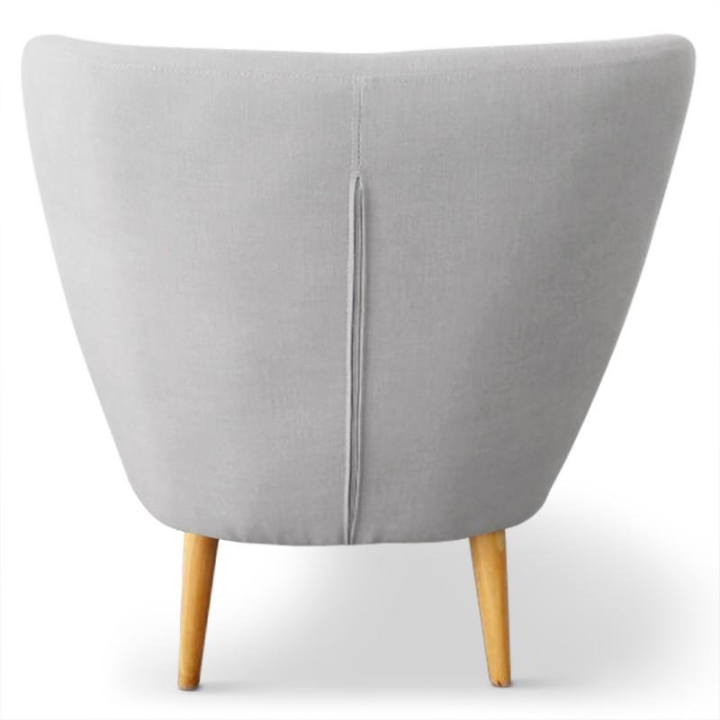 Fauteuil scandinave stuart tissu gris pas cher - Fauteuil style scandinave pas cher ...