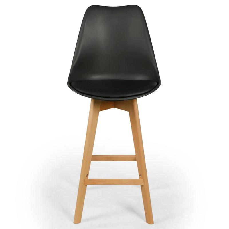 chaises hautes scandinaves ericka noir lot de 4 pas cher. Black Bedroom Furniture Sets. Home Design Ideas