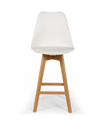 Chaises hautes scandinaves Ericka Blanc - Lot de 4