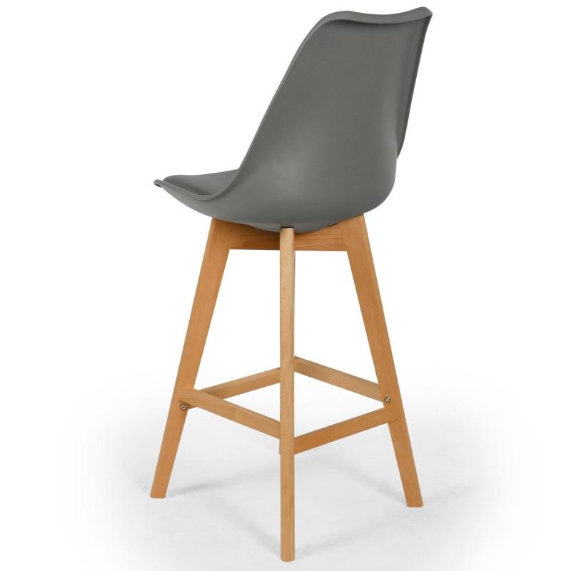 chaises hautes scandinaves ericka gris lot de 4 pas cher. Black Bedroom Furniture Sets. Home Design Ideas