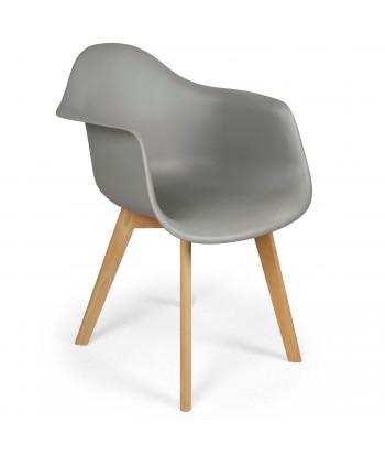 Chaises scandinaves design Daven Gris - Lot de 4 pas cher