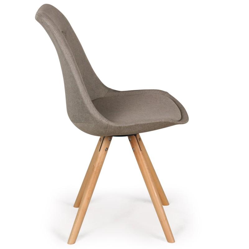 chaises scandinaves ida tissu beige lot de 4 pas cher. Black Bedroom Furniture Sets. Home Design Ideas