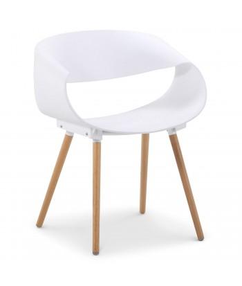 Chaises scandinaves design Ritas Blanc - Lot de 2 pas cher