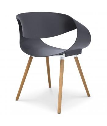 Chaises scandinaves design Ritas Gris - Lot de 2 pas cher