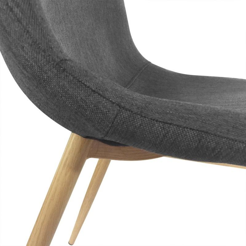 chaises scandinaves karl tissu gris lot de 4 pas cher scandinave deco. Black Bedroom Furniture Sets. Home Design Ideas