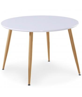 Table scandinave Bois laqué Blanc