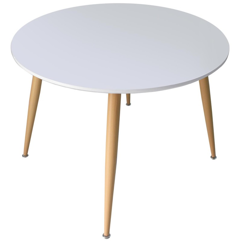 Table scandinave bois laqu blanc pas cher scandinave deco for Table scandinave bois