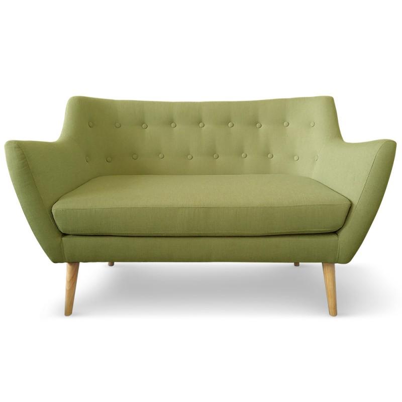 canap scandinave 2 places stuart tissu vert pas cher scandinave deco. Black Bedroom Furniture Sets. Home Design Ideas