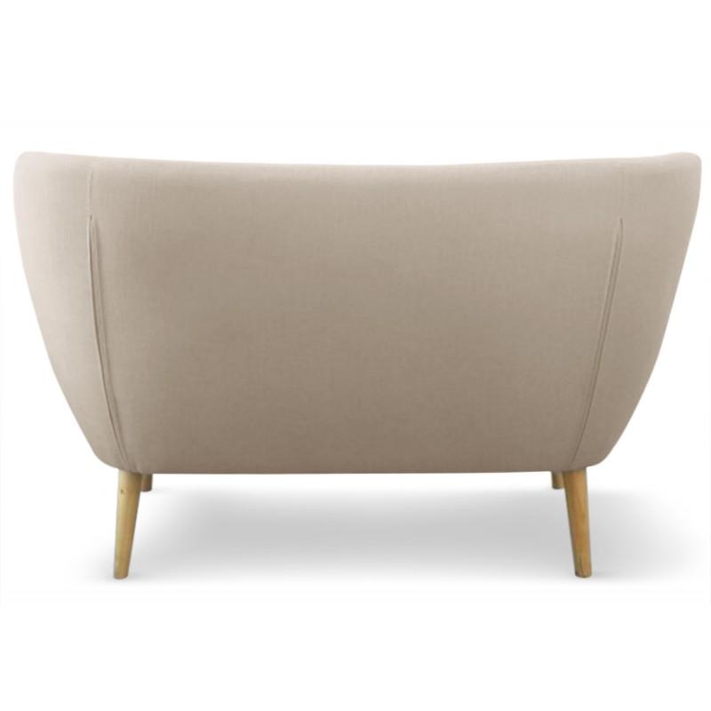 canap scandinave 2 places stuart tissu beige pas cher scandinave deco. Black Bedroom Furniture Sets. Home Design Ideas