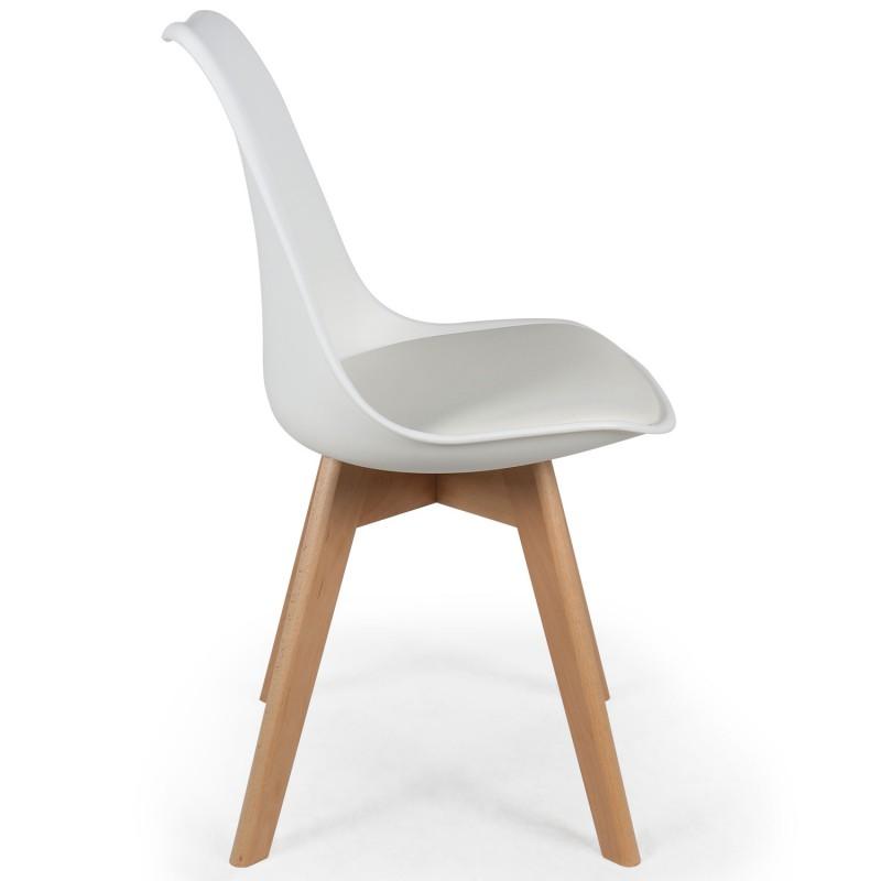 Chaises scandinaves ericka blanc lot de 4 pas cher for 4 chaises scandinaves