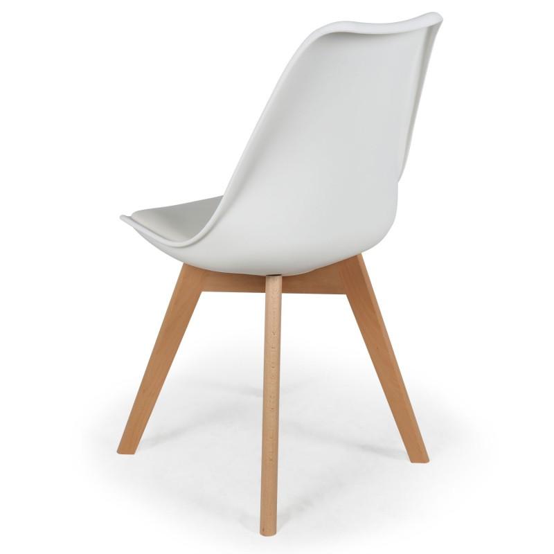 chaises scandinaves ericka blanc lot de 4 pas cher. Black Bedroom Furniture Sets. Home Design Ideas