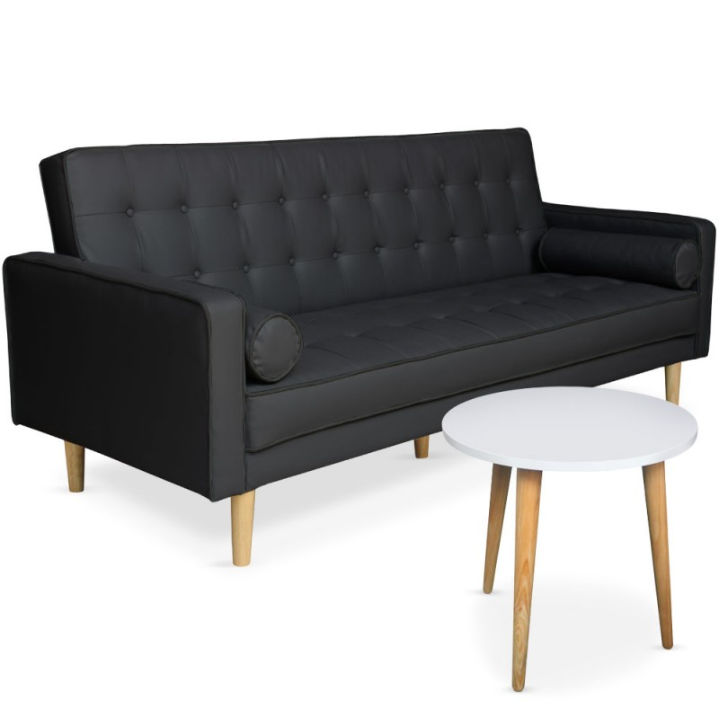 canap convertible scandinave noir table basse. Black Bedroom Furniture Sets. Home Design Ideas