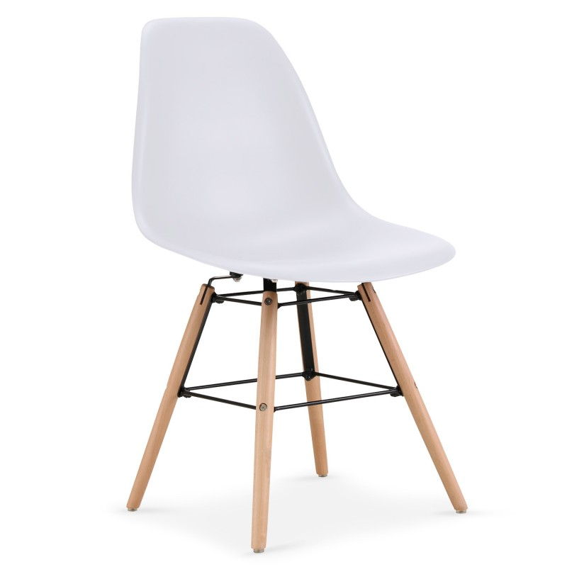 chaises scandinaves elies blanc lot de 4 pas cher scandinave deco. Black Bedroom Furniture Sets. Home Design Ideas