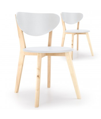 Chaises design scandinave Ada Wood Blanc