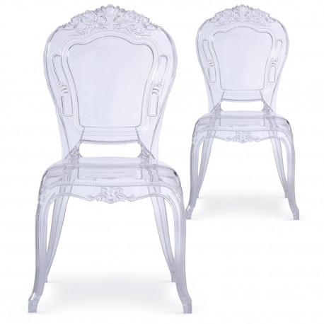 Chaises royales Transparent